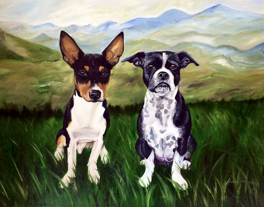 Pet Portraits | Woofinwaggle | Shawn Hart | Pet Paintings | Raleigh